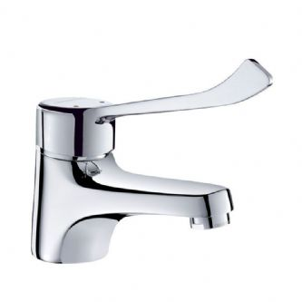 Delabie 2221L Deck-Mounted Manual Basin Mixer